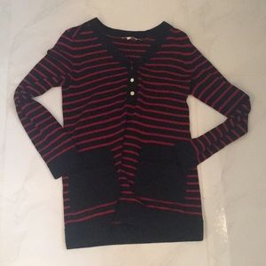 Tory Burch Red/Navy Pullover